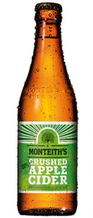 Crushed Apple Cider by Monteith's Brewing Company in West Coast, New Zealand