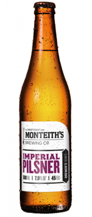 Imperial Pilsner by Monteith's Brewing Company in West Coast, New Zealand