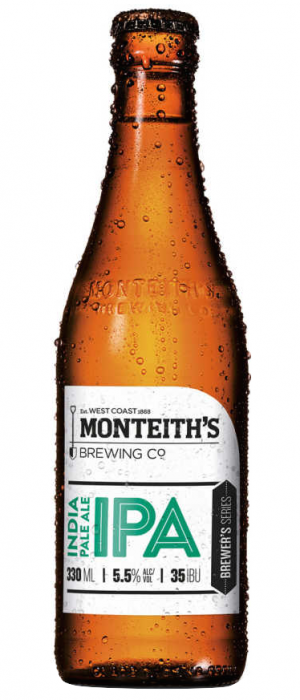 IPA by Monteith's Brewing Company in West Coast, New Zealand