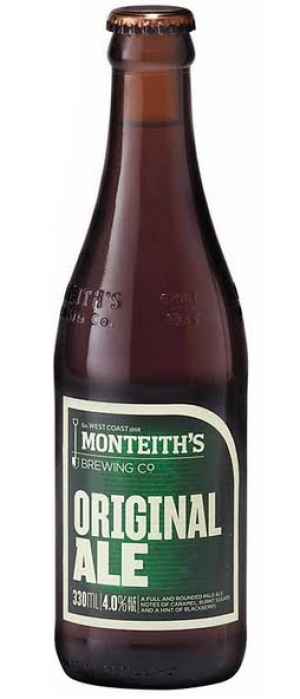 Original Ale by Monteith's Brewing Company in West Coast, New Zealand