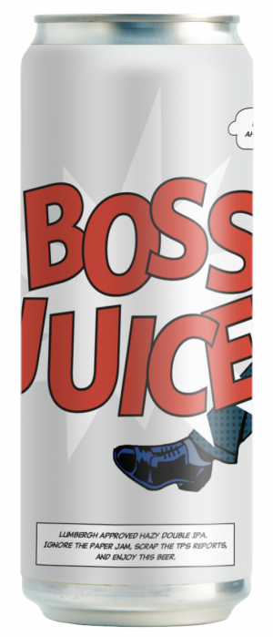 Boss Juice Hazy Double IPA by Moody Ales in British Columbia, Canada