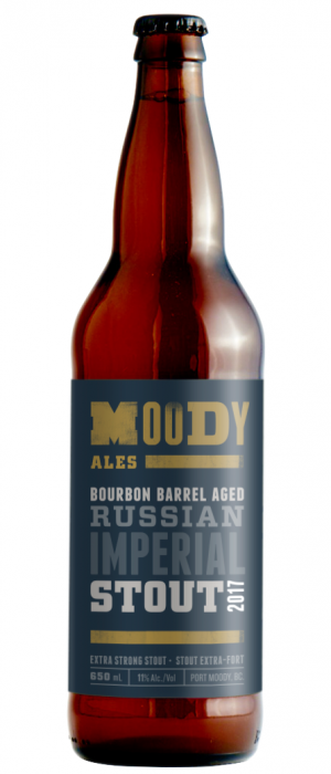 2017 Bourbon Barrel Aged Russian Imperial Stout by Moody Ales in British Columbia, Canada