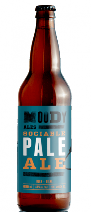Sociable Pale Ale by Moody Ales in British Columbia, Canada