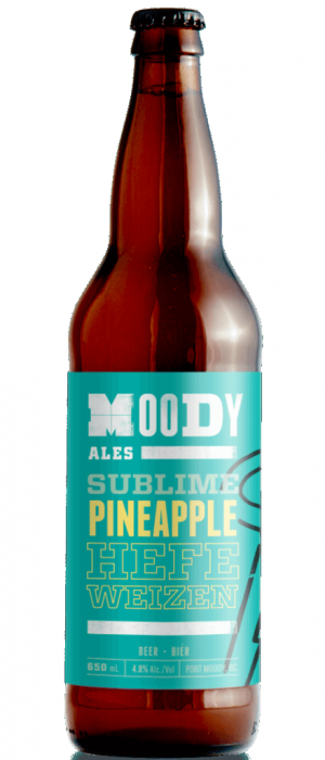 Sublime Pineapple Hefeweizen by Moody Ales in British Columbia, Canada