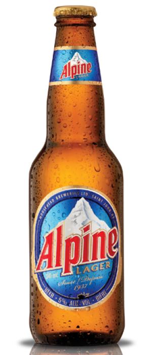 Alpine Lager by Moosehead in New Brunswick, Canada