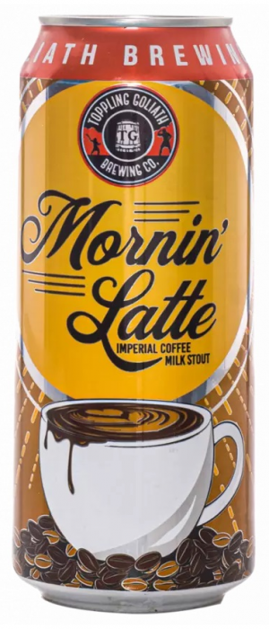 Mornin' Latte Imperial Coffee Milk Stout by Toppling Goliath Brewing Company in Iowa, United States