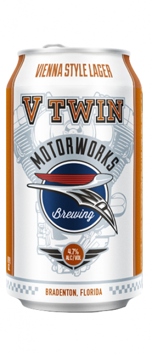 V Twin Vienna Lager by Motorworks Brewing in Florida, United States