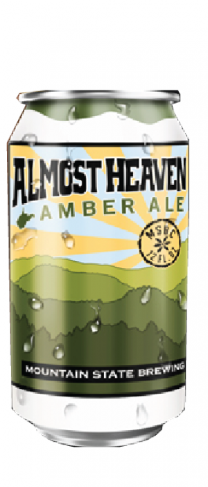 Almost Heaven Amber Ale by Mountain State Brewing Co. in West Virginia, United States