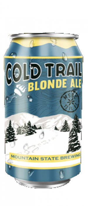 Cold Trail Blonde Ale by Mountain State Brewing Co. in West Virginia, United States