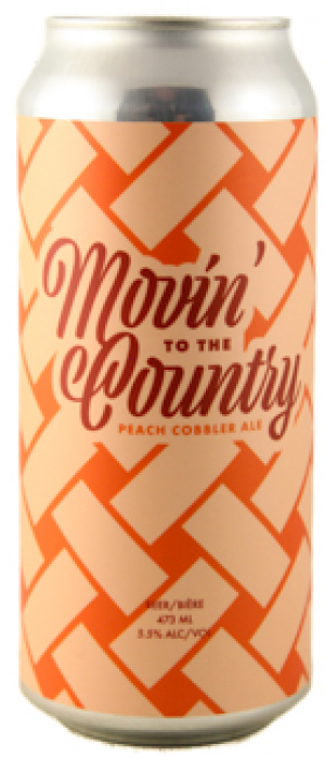 Movin' To The Country Peach Cobbler Ale by Cabin Brewing Company in Alberta, Canada