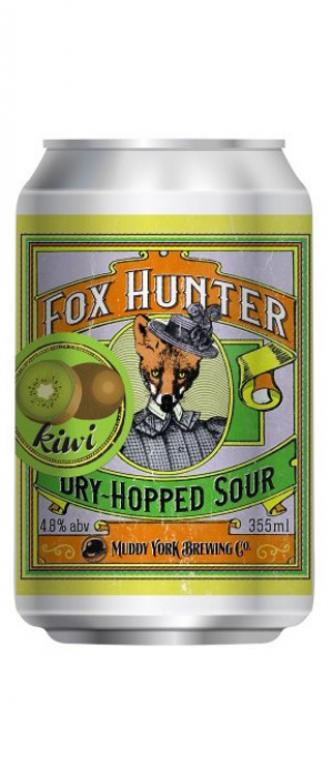 Fox Hunter Dry-Hopped Sour with Kiwi by Muddy York Brewing Co. in Ontario, Canada