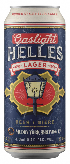 Gaslight Helles by Muddy York Brewing Co. in Ontario, Canada