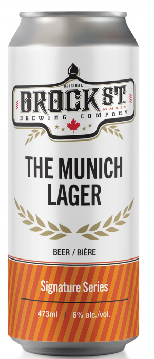 The Munich Lager by Brock St. Brewing Company in Ontario, Canada