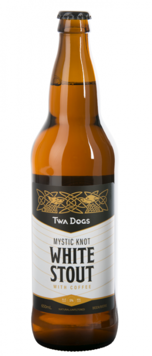 Twa Dogs Mystik Knot White Coffee Stout by Victoria Caledonian Brewery & Distillery in British Columbia, Canada