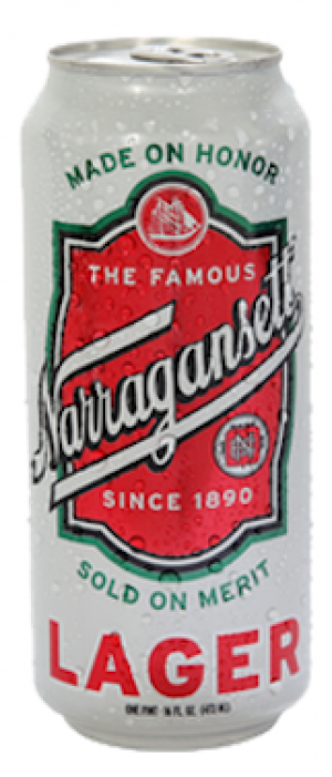 Narragansett Lager by Narragansett Brewing Company in Rhode Island, United States