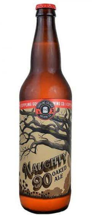 Naughty 90 Oaked Ale by Toppling Goliath Brewing Company in Iowa, United States