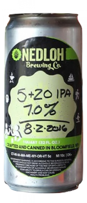 5 & 20 IPA by Nedloh Brewing Company in New York, United States