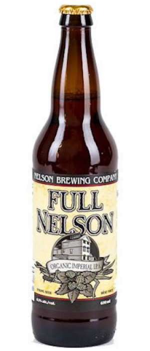Full Nelson Organic Imperial IPA by Nelson Brewing Company in British Columbia, Canada