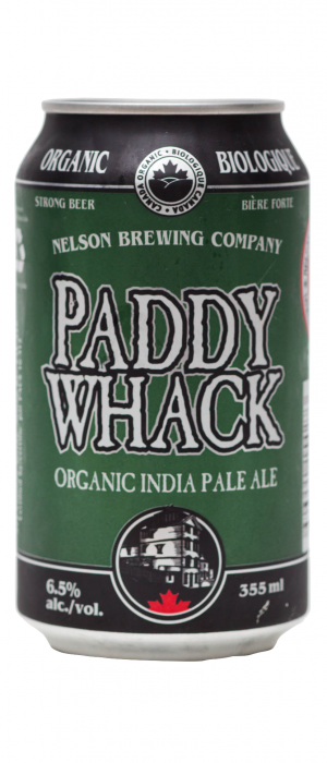 Paddy Whack Organic IPA by Nelson Brewing Company in British Columbia, Canada