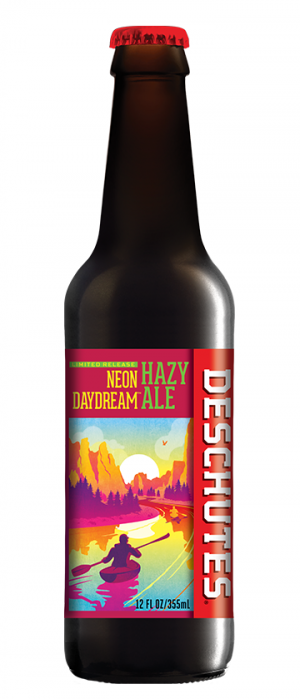 Neon Daydream Hazy Ale by Deschutes Brewery in Oregon, United States