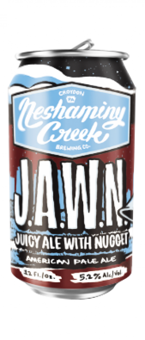 J.A.W.N. – Juicy Ale With Nugget by Neshaminy Creek Brewing Company in Pennsylvania, United States