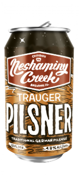 Trauger Pilsner by Neshaminy Creek Brewing Company in Pennsylvania, United States