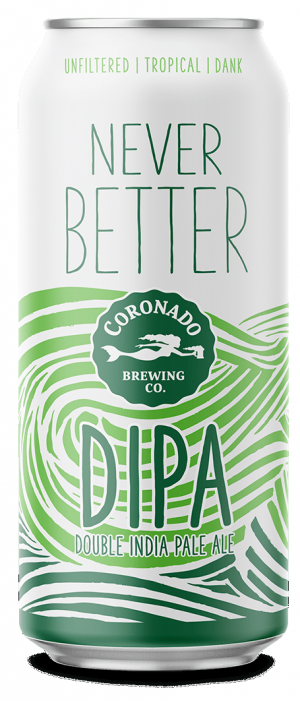 Never Better DIPA by Coronado Brewing Company in California, United States