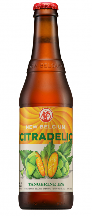 Citradelic Tangerine IPA by New Belgium Brewing Company in Colorado, United States