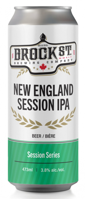New England Session IPA by Brock St. Brewing Company in Ontario, Canada