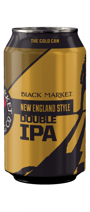 New England Style Double IPA: Gold by Black Market Brewing Co in California, United States