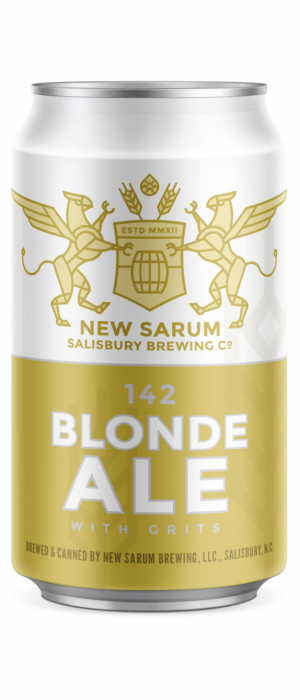 142 Blonde Ale With Grits by New Sarum Brewing in North Carolina, United States