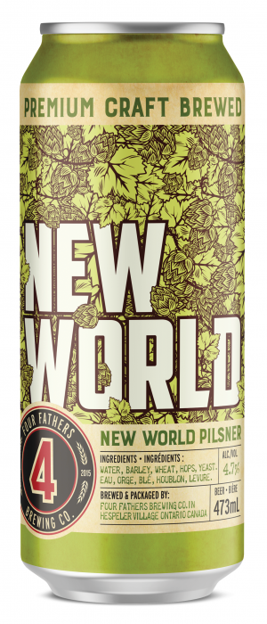 New World Pilsner by Four Fathers Brewing Co.  in Ontario, Canada