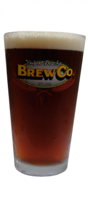 Cutback Amber Ale by Newport Beach Brewing Company in California, United States