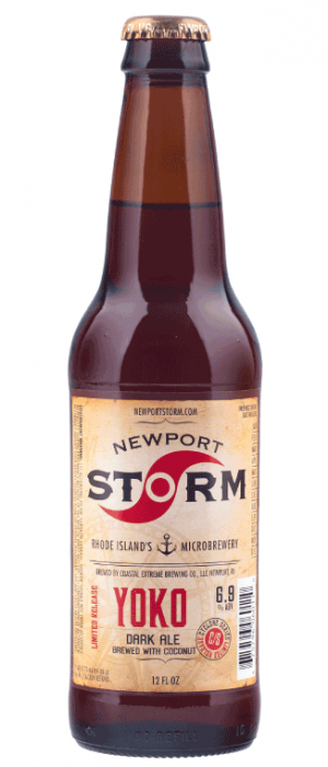 Cyclone Series Yoko: Dark Ale with Coconut by Newport Storm Brewery in Rhode Island, United States