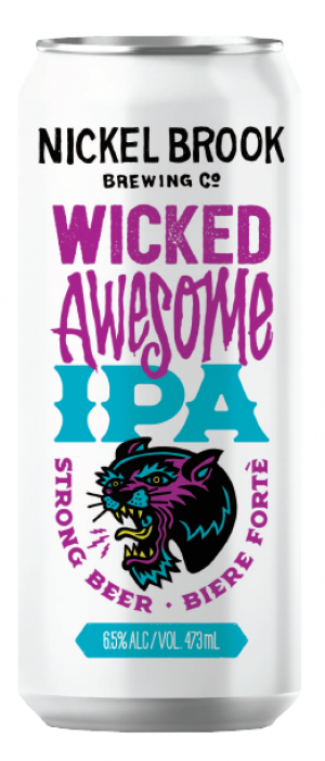 Wicked Awesome New England IPA by Nickel Brook Brewing Company in Ontario, Canada