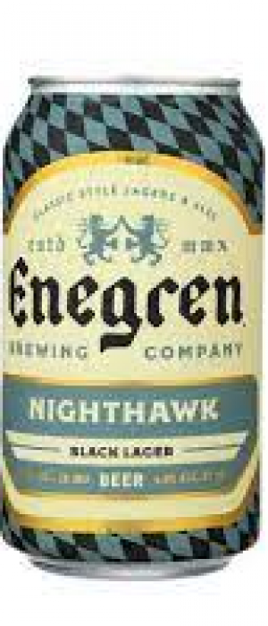 Nighthawk Black Lager by Enegren Brewing Company in California, United States