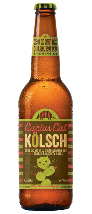 Cactus Cat Kölsch by Nine Band Brewing in Texas, United States