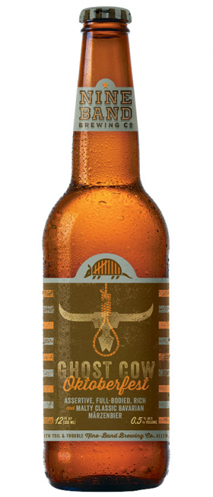Ghost Cow Oktoberfest by Nine Band Brewing in Texas, United States