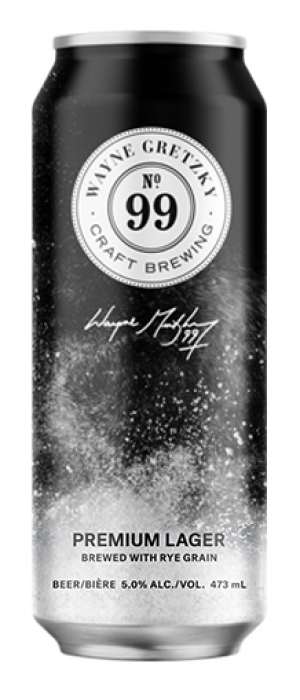 No. 99 Rye Premium Lager by Wayne Gretzky Craft Brewing in Ontario, Canada
