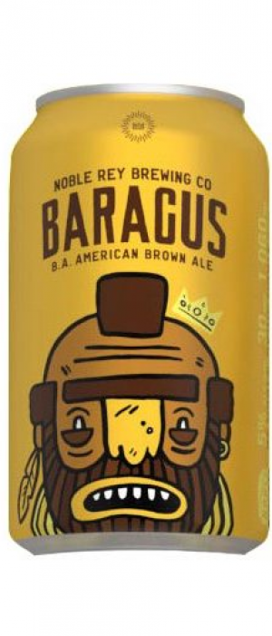 Baragus B.A. American Brown Ale by Noble Rey Brewing Company in Texas, United States