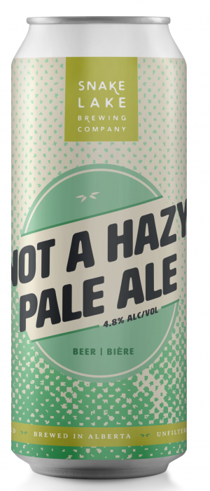 Not a Hazy Pale Ale by Snake Lake Brewing Company in Alberta, Canada