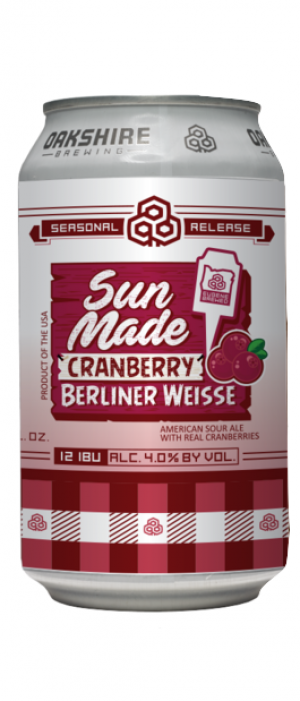 Sun Made Cranberry by Oakshire Brewing in Oregon, United States