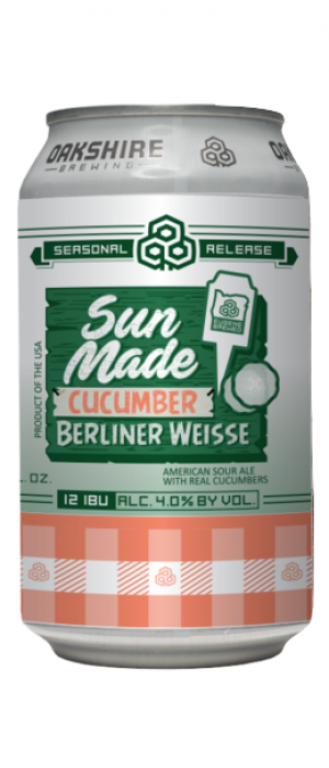 Sun Made Cucumber by Oakshire Brewing in Oregon, United States