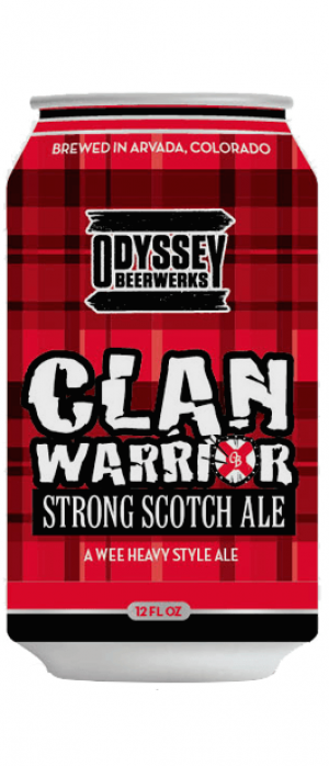 Clan Warrior Scotch Ale by Odyssey Beerwerks in Colorado, United States