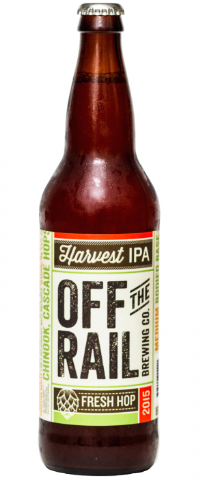 2015 Fresh Hop Harvest IPA by Off The Rail Brewing Company in British Columbia, Canada