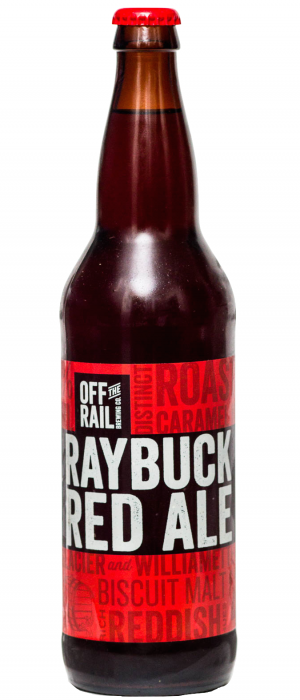 Raybuck Red Ale by Off The Rail Brewing Company in British Columbia, Canada