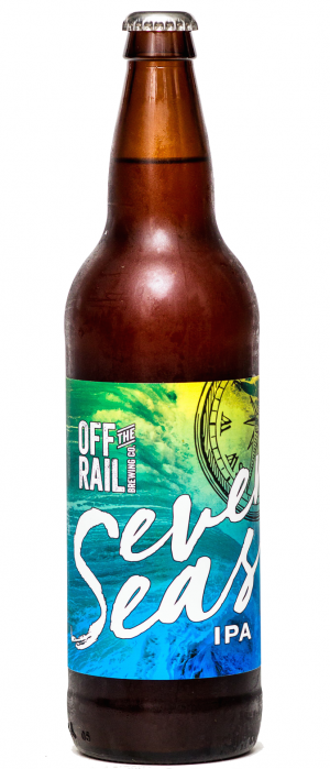 Seven Seas IPA by Off The Rail Brewing Company in British Columbia, Canada