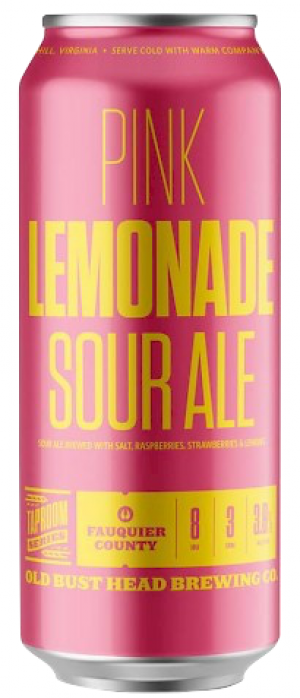 Pink Lemonade Sour Ale by Old Bust Head Brewing Co. in Virginia, United States