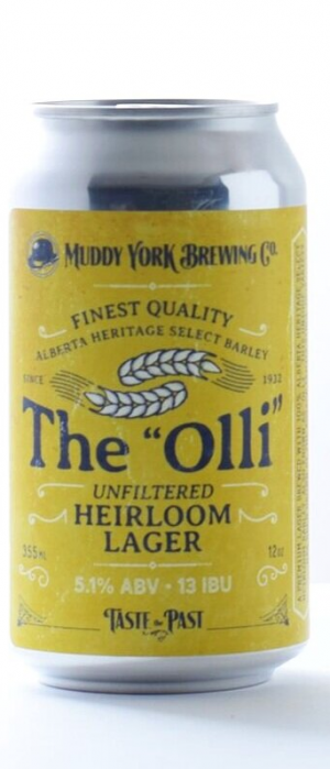 """The """"Olli"""" Unfiltered Heirloom Lager by Muddy York Brewing Co. in Ontario, Canada"""