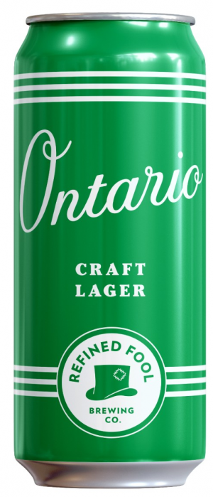 Ontario Craft Lager by Refined Fool Brewing Company in Ontario, Canada